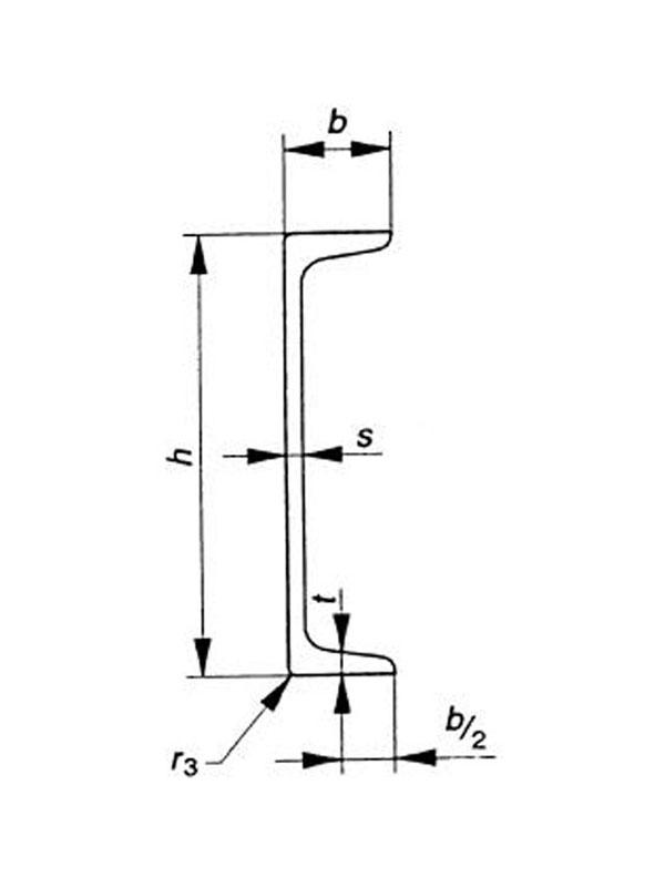 سالم تجارت آسیا - تیرآهن ناودانی با لبه شیب دار ( UPN ) - جدول تلرانس ابعاد